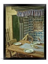 the old kitchen, Framed Print