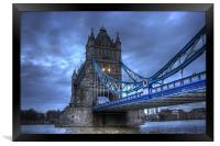 Tower Bridge in Blue, Framed Print