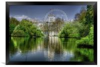 St James Park and London Eye, Framed Print