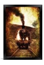 steam engine 5643, Framed Print