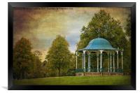 victorian bandstand in shrewsbury, Framed Print