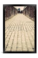 the old cobbled alley, Framed Print