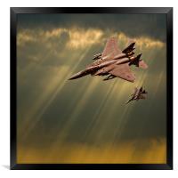 diving eagles, Framed Print