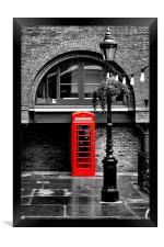 British Red phonebox, Framed Print