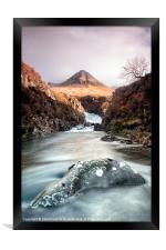Skyes Fairy Pools, Framed Print