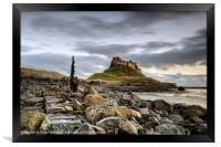 Path to Lindisfarne Castle, Framed Print