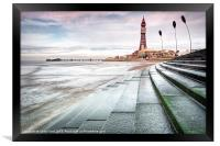 Blackpool Tower Curves, Framed Print