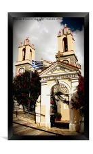 A Church in Siana, Rhodes, Framed Print