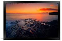 Rock pool sunset, Framed Print