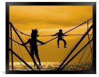 Jump for joy, Framed Print