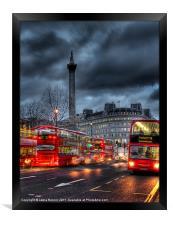 London red buses, Framed Print