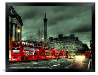 Red buses and Routemaster, Framed Print