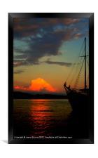 Lets sail away, Framed Print