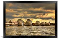 Thames Barrier, Framed Print