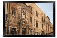Taormina architecture, Framed Print