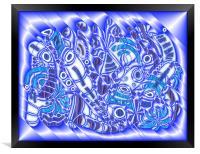 Blue Bracken, Framed Print
