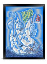 Full Sails to the Wind, Framed Print