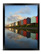 Brightlingsea, Essex, Beach Huts, Framed Print