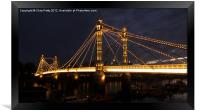 Albert Bridge, London, Night, Framed Print