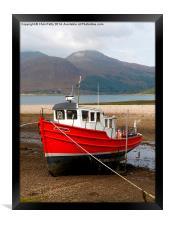 Glenelg, Scotland, Red Boat, Framed Print