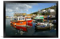 Mevagissey, Cornwall, Harbour , Framed Print