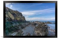 Rocky Outcrops at Ilfracombe, Framed Print