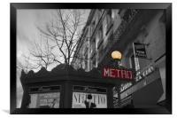 Metro, Framed Print