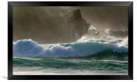Clogher Waves, Framed Print