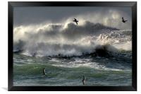 Waves on Clogher Beach, Framed Print