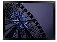 Blue Star Wheel, Framed Print
