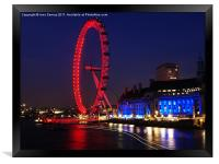The London Eye at Night, Framed Print