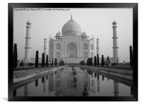 The Taj Mahal, Framed Print