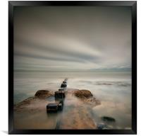 Posts into the Sea, Framed Print
