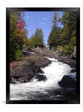 Ragged Falls , Framed Print