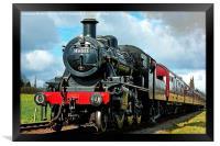 Steam Locomotive 46521, Framed Print