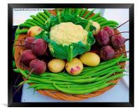 A Basket Of Veg , Framed Print