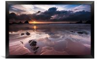 Hartland Sunset, Framed Print