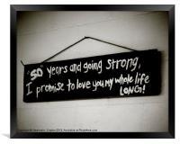 Our Life Sign, Framed Print