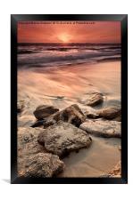 Western Australia Beach Sunset, Framed Print