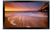 Colourful Pier Sunrise, Framed Print