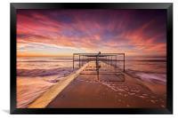 Golden light beach, Framed Print