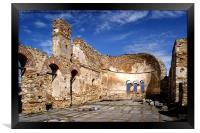 Byzantine ruins 2, Framed Print