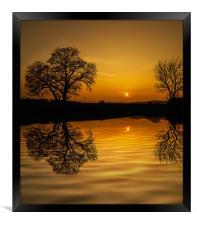 Sunset at Holbrook, Framed Print