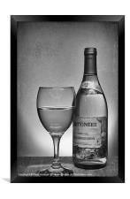 Glass of White, Framed Print