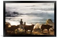 Bringing the Herd Home, Framed Print