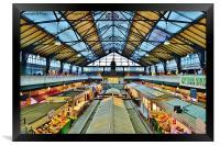 Cardiff Market, Framed Print