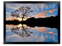 Sunset Reflections, Framed Print