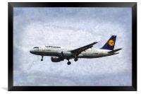 Lufthansa Airbus A320 Art, Framed Print