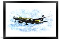 Air New Zealand Hobbit Boeing 777 Art, Framed Print