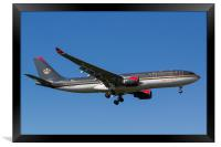 Royal Jordanian Airlines Airbus A330, Framed Print